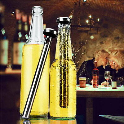 Stainless Steel Beer Chill Stick Wine Chiller Cooler Rod In Bottle Pourer Cool