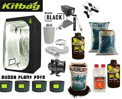 "Grow Tent 120 & Grow Light 600w & 4"" Fan Kit & Canna Coco complete set up kit"