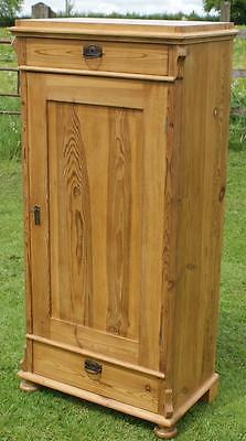 A Beautiful East German  Turn Of The Century Pine Cupboard