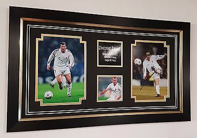 *** Rare ZINEDINE ZIDANE of Real Madrid Signed PHOTO PICTURE Display ***