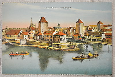 """CPA """" STRASBOURG - Ponts Couverts"""
