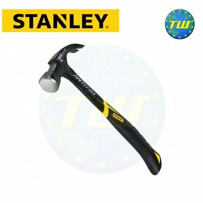 Stanley FatMax Black Anti Vibe All Steel Curved Claw Hammer 450g 16oz 1-51-275