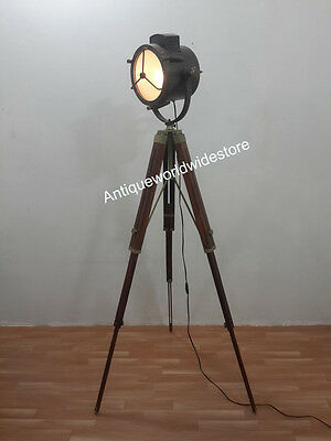 Nautical beautiful vintage theater spotlight floor lamp tripod home nautical beautiful vintage theater spotlight floor lamp tripod home decor audiocablefo