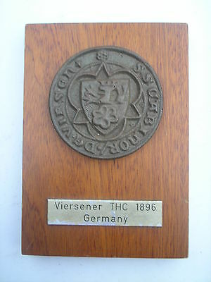 Viersener Thc 1896 Germany  Wall Plaque, Crest / Shield.