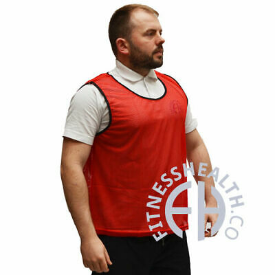 FH ® 5 pack Mesh Vests Football Rugby Hockey Sports Bibs TeamTraining Tops