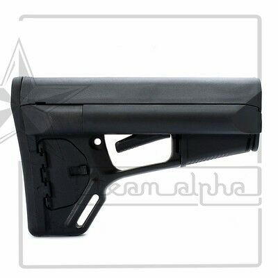 Airsoft ACS Style Buttstock Polymer Adjustable Stock 5.56 Tactical Rifle Black