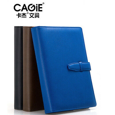 A5 Loose Leaf PU Leather Notebook Diary Schedule Planner Organiser Note Plan
