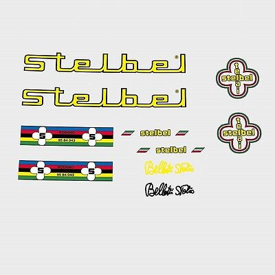 Stickers Transfers Scapin Bicycle Decals Yellow n.100