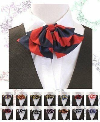 Women's Striped Poly Woven Pre Knotted Ladies Bow Tie Fully Adjustable (LCB)