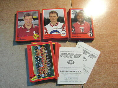 original FOOTBALL STICKERS PANINI FOOT 97 1997 FRANCE Choisir dans liste