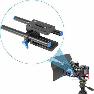 Neewer 15mm Rail Rod Support Baseplate Mount for DSLR Follow Focus Rig 5D3 USA