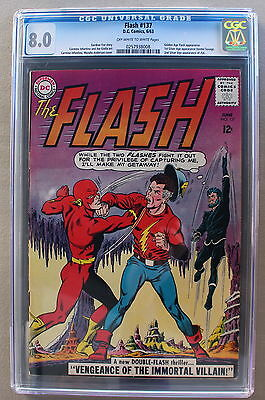 FLASH #137 GA 1st SA Johnny Thunder, JSA Cameo & VANDAL SAVAGE 1963 CGC VF 8.0