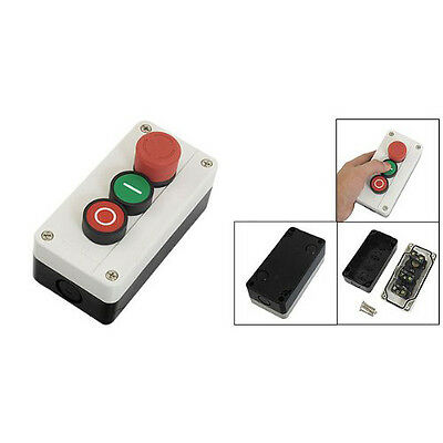 F12 NC Emergency Stop NO Red Green Push Button Switch Station 600V 10A