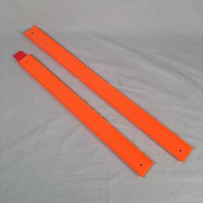 Hot Wheels Wall Tracks 2 pcs 2 lengths of Orange Track for Starter Set V1053 n24