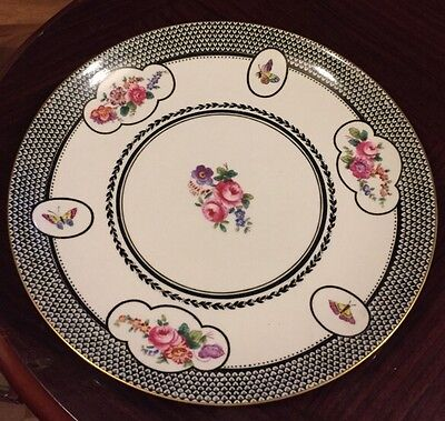 Stunning Copeland Spode China Plate With Butterfly Design