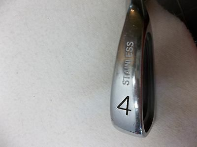 /Custom Stainless #4 Iron - Right Hand - Men's - Steel Shaft - Regular Flex