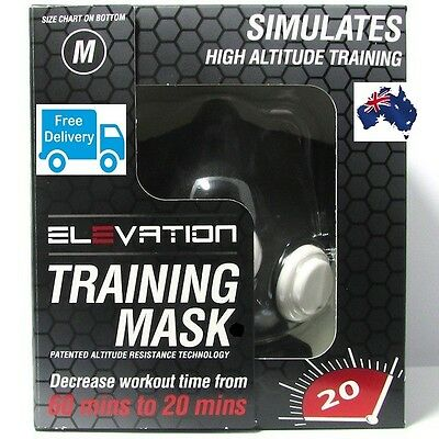 Training Mask|Altitude|Size S M L| Nrl|Mma|Resistance|Crossfit|Running|Elevation