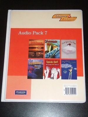LITERACY IN ACTION Audio Pack 7 (6 CDs) Grade 7 by Pearson Canada 2008 NEW $112