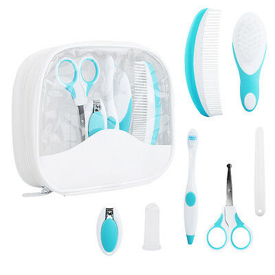 Cute 7PCS/Set Baby Healthcare Grooming Kit Newborn Nail Clipper Comb Toothbrush
