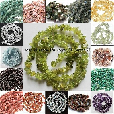 "6-8mm Freeform loose beads chips gemstones DIY jewelry making 16"" free shipping"