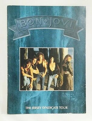 BON JOVI Jersey Syndicate TOUR 1989 JAPAN CONCERT TOUR PROGRAM BOOK VHTF F/S