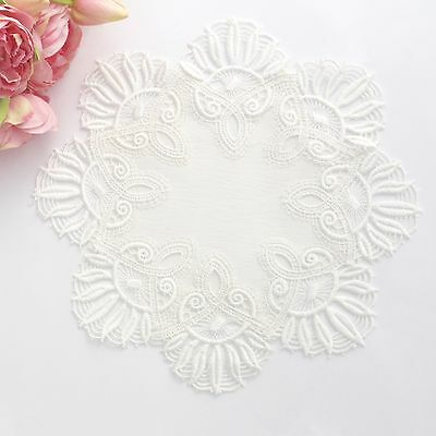 Lace doily in Off white 29-30 cm for millinery , hair and crafts