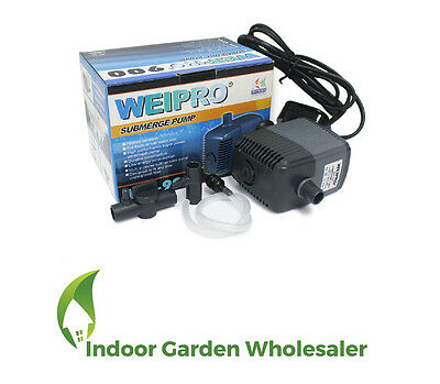 2900 L/H 83 WATT Weipro Submersible Aquarium Pond Marine Water Pump Fish Tank