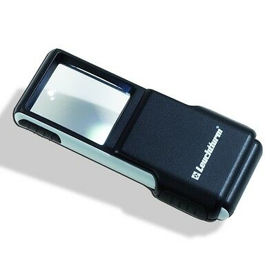 Leuchtturm SLIDE pocket magnifier with 3x magnification and LED, 346518