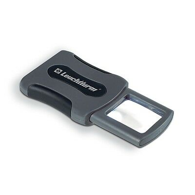 Leuchtturm CLIP pocket magnifier with 3x magnification and LED, 347972
