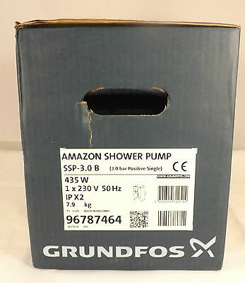 Grundfos Amazon Shower Pump ssp-3.0 B Positive Head Single Impellor  96787464