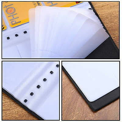 120 Credit Card Holder Cards Sheets Business Name ID Book Case Organizer Leather