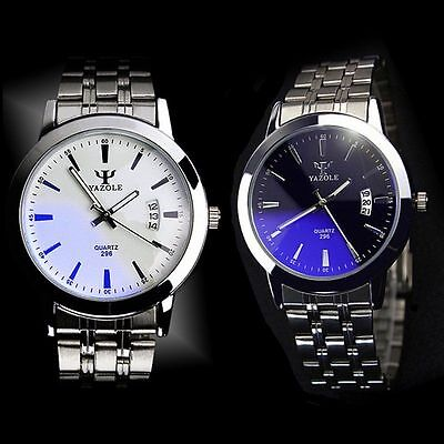 Fashion Mens Male Luxury Date Stainless Steel Quartz Sport Analog Wrist Watch