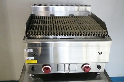 New Counter Top Gas Lava Rock Grill / Char Grill Cooker 2 burner Grill BBQ 60cm
