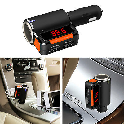 BC09 Bluetooth Car Charger BT2.1 Dual USB Port 5V/3.1A For Phone Smartphone