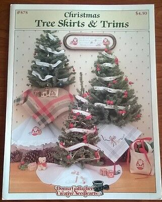 Christmas Tree Skirts and Trims in Cross Stitch by Donna Gallagher