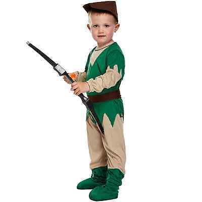 Toddler Robin Hood Fancy Dressing Up Costume Outfit Baby Classic Book 3 Years