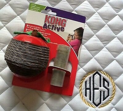 Kong Cat Kitten Scratcher Scratch Apple Activity Boredom Toy Include Catnip Vial