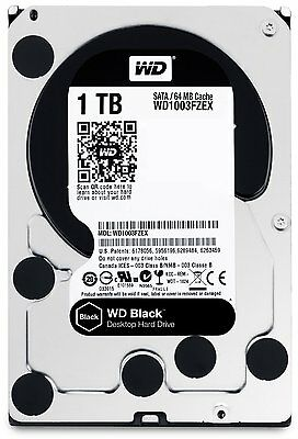 Hard Disk 3,5 Western Digital Black 1Tb Sata3 64Mb 1000Gb Wd1003Fzex