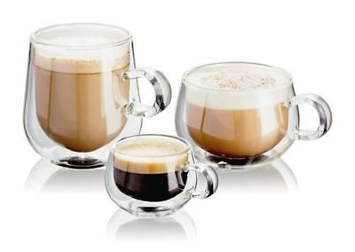 Judge Double Walled Coffee, Espresso or Latte Clear Glasses, Set of 2