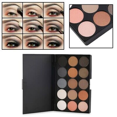 15 Earth Color Makeup Matte Eye Shadow Palette Eyeshadow Warm Colors Cosmetic #2