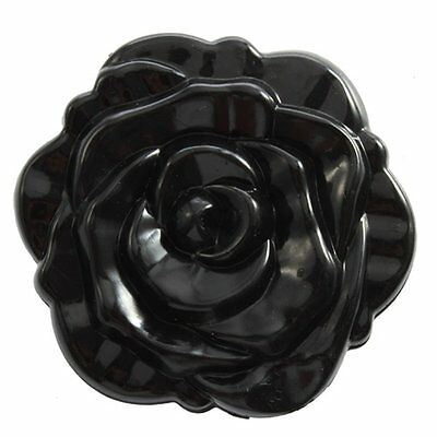 3D Stereo Cute Retro Rose Shape Makeup Compact Cosmetic pocket Mirror Black BF