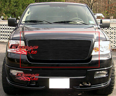 Fits 2004-2008 Ford F-150 Honeycomb Style Black Billet Grille Insert 2005 06 07