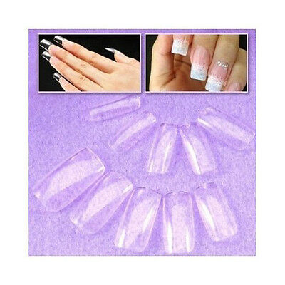 Superior High standard plastic 500 FULL Cover False Nails + Free Cable Tie BF