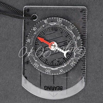 Mini Compass Army Scouts Camping Outdoor Boating Map Reading Orienteering BF