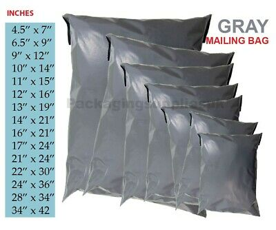 50 x STRONG LARGE GREY POSTAL MAILING BAGS 12x16 9x12 10x14 All Sizes COLOURED