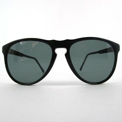 Black Persol 649 Style Sunglasses Occhiali Lunettes Anni 80 80's Vintage Italy