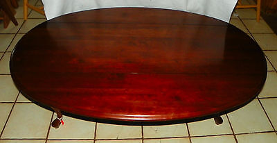 Solid Cherry Dropleaf Coffee Table by Ethan Allen  (CT132)