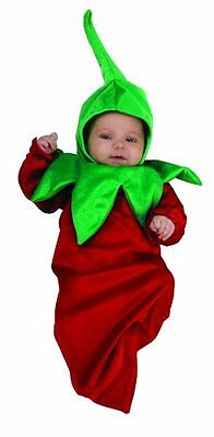 NEW Rubie's Costume Deluxe Baby Bunting, Chili Pepper, 0-9 Months