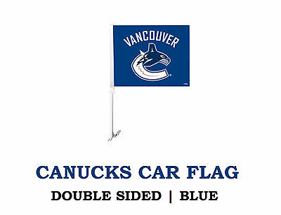 The Original Vancouver Canucks Double Sided Car Flag! Hunter, Van Nucks NHL Auto