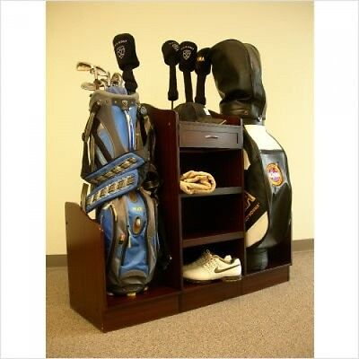 Golf Bag Organizer Equipment Storage Rack Stand Caddy Club Shoes Accessories NEW